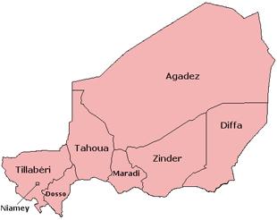 Régions administratives du Niger