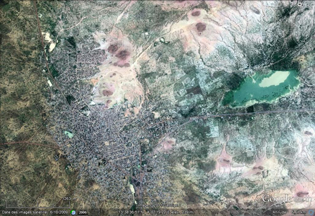 Vue satellite de Dogondoutchi