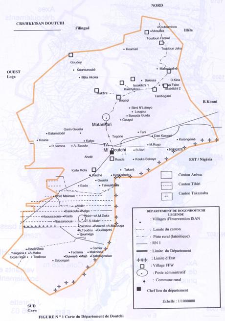 Plan du département de Doutchi